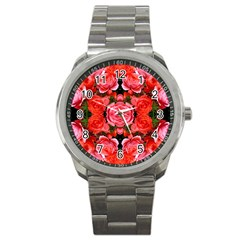 Beautiful Red Roses Sport Metal Watches by Costasonlineshop