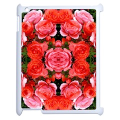 Beautiful Red Roses Apple Ipad 2 Case (white) by Costasonlineshop