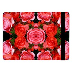 Beautiful Red Roses Samsung Galaxy Tab Pro 12 2  Flip Case by Costasonlineshop