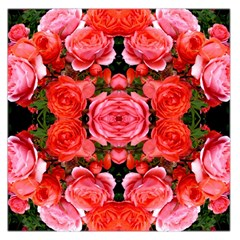 Beautiful Red Roses Large Satin Scarf (square) by Costasonlineshop
