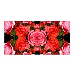 Beautiful Red Roses Satin Wrap by Costasonlineshop