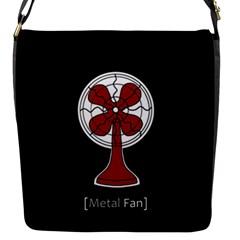 Metal Fan Flap Messenger Bag (s) by waywardmuse
