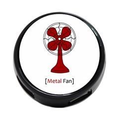 Metal Fan 4 Port Usb Hub (two Sides)  by waywardmuse
