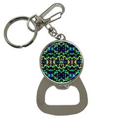 Cool Green Blue Yellow Design Bottle Opener Key Chains by Costasonlineshop