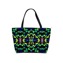 Cool Green Blue Yellow Design Shoulder Handbags by Costasonlineshop