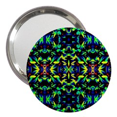 Cool Green Blue Yellow Design 3  Handbag Mirrors by Costasonlineshop