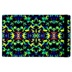 Cool Green Blue Yellow Design Apple Ipad 3/4 Flip Case by Costasonlineshop