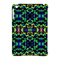 Cool Green Blue Yellow Design Apple iPad Mini Hardshell Case (Compatible with Smart Cover) by Costasonlineshop