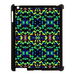Cool Green Blue Yellow Design Apple iPad 3/4 Case (Black) by Costasonlineshop