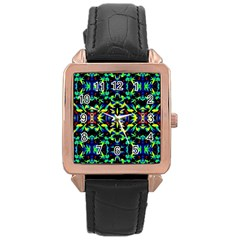Cool Green Blue Yellow Design Rose Gold Watches by Costasonlineshop