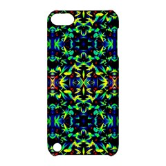 Cool Green Blue Yellow Design Apple Ipod Touch 5 Hardshell Case With Stand by Costasonlineshop