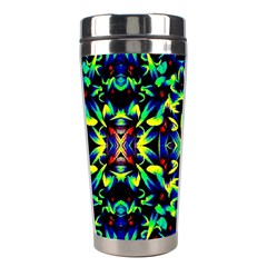 Cool Green Blue Yellow Design Stainless Steel Travel Tumblers by Costasonlineshop