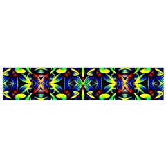 Cool Green Blue Yellow Design Flano Scarf (Small)  by Costasonlineshop