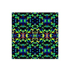 Cool Green Blue Yellow Design Satin Bandana Scarf by Costasonlineshop