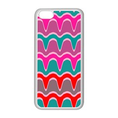 Waves Patternapple Iphone 5c Seamless Case (white) by LalyLauraFLM