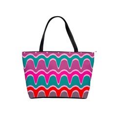 Waves Pattern Classic Shoulder Handbag by LalyLauraFLM