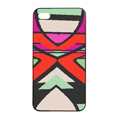 Shapes In Retro Colors			apple Iphone 4/4s Seamless Case (black) by LalyLauraFLM