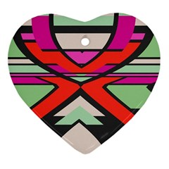 Shapes In Retro Colorsornament (heart) by LalyLauraFLM