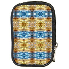 Gold And Blue Elegant Pattern Compact Camera Cases by Costasonlineshop