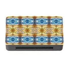 Gold And Blue Elegant Pattern Memory Card Reader With Cf by Costasonlineshop