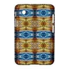Gold And Blue Elegant Pattern Samsung Galaxy Tab 2 (7 ) P3100 Hardshell Case  by Costasonlineshop