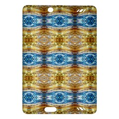 Gold And Blue Elegant Pattern Kindle Fire Hd (2013) Hardshell Case by Costasonlineshop