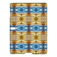 Gold And Blue Elegant Pattern Samsung Galaxy Tab S (10 5 ) Hardshell Case  by Costasonlineshop