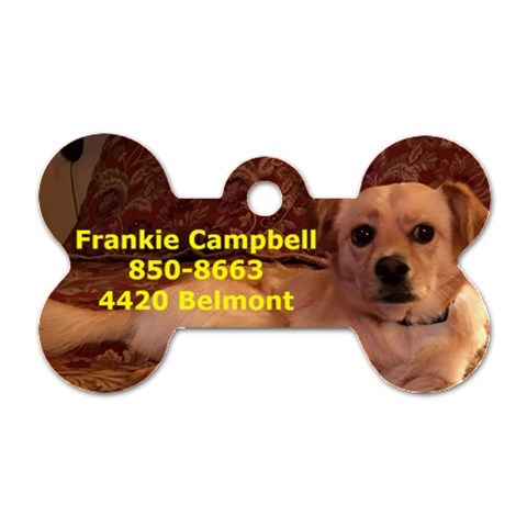 Frankie 1 Side By Ellen   Dog Tag Bone (one Side)   O1gk2mzn1dsq   Www Artscow Com Front