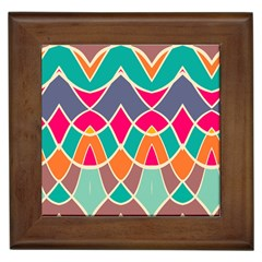 Wavy Design			framed Tile by LalyLauraFLM