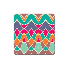 Wavy Designmagnet (square) by LalyLauraFLM