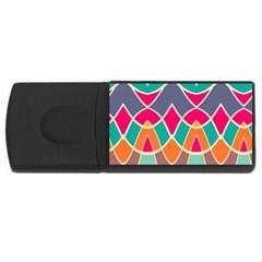 Wavy Designusb Flash Drive Rectangular (4 Gb) by LalyLauraFLM