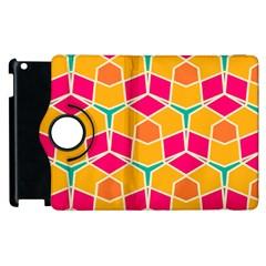 Shapes In Retro Colors Patternapple Ipad 2 Flip 360 Case by LalyLauraFLM
