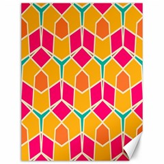 Shapes In Retro Colors Pattern			canvas 12  X 16  by LalyLauraFLM
