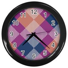 Argyle Variationwall Clock (black) by LalyLauraFLM