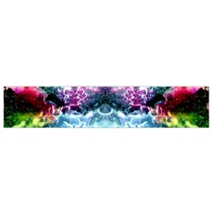 Space Cosmos Black Blue White Red Flano Scarf (small)  by Costasonlineshop