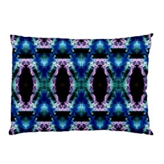 Blue, Light Blue, Metallic Diamond Pattern Pillow Cases (two Sides) by Costasonlineshop