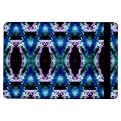 Blue, Light Blue, Metallic Diamond Pattern Ipad Air Flip by Costasonlineshop