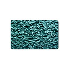Blue Green  Wall Background Magnet (Name Card) by Costasonlineshop
