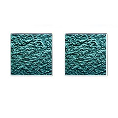Blue Green  Wall Background Cufflinks (square) by Costasonlineshop