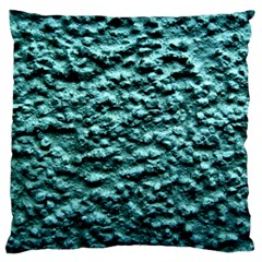 Blue Green  Wall Background Large Flano Cushion Cases (two Sides)  by Costasonlineshop