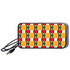 Rectangles And Squares Pattern Portable Speaker by LalyLauraFLM