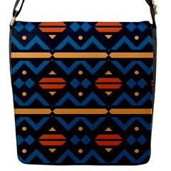 Rhombus  Circles And Waves Patternflap Closure Messenger Bag (s) by LalyLauraFLM