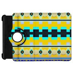Rectangles And Other Shapes			kindle Fire Hd Flip 360 Case by LalyLauraFLM