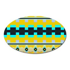 Rectangles And Other Shapesmagnet (oval) by LalyLauraFLM