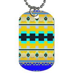 Rectangles And Other Shapes			dog Tag (one Side) by LalyLauraFLM