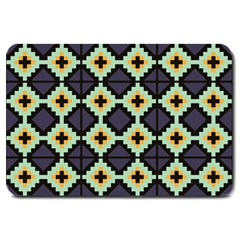 Pixelated Pattern			large Doormat by LalyLauraFLM