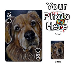 Selfie Of A Golden Retriever Playing Cards 54 Designs  by timelessartoncanvas