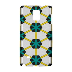 Blue Stars And Honeycomb Pattern			samsung Galaxy Note 4 Hardshell Case by LalyLauraFLM