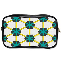 Blue Stars And Honeycomb Pattern Toiletries Bag (two Sides) by LalyLauraFLM
