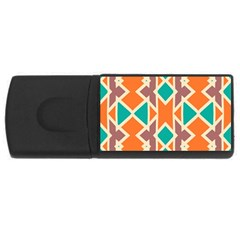 Rhombus Triangles And Other Shapesusb Flash Drive Rectangular (4 Gb) by LalyLauraFLM